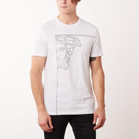 Versace Collection Medusa Corner T-Shirt // White + Silver (S)