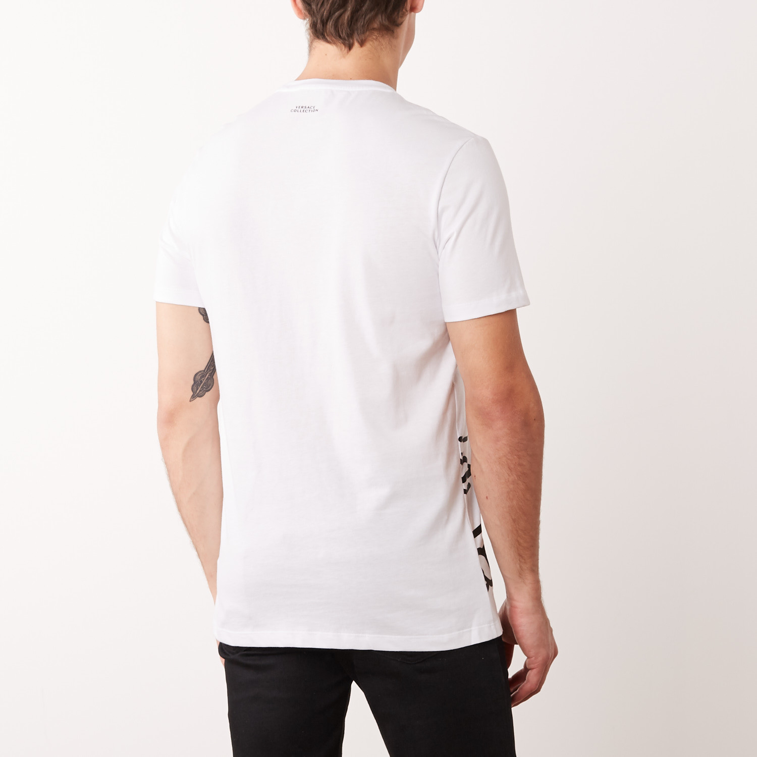 versace collection medusa head t shirt white m versace collection touch of modern. Black Bedroom Furniture Sets. Home Design Ideas