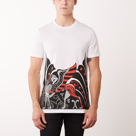 Versace Collection T-Shirt // White + Black + Red (S)