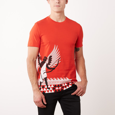 T-Shirt // Red + White + Black (S)