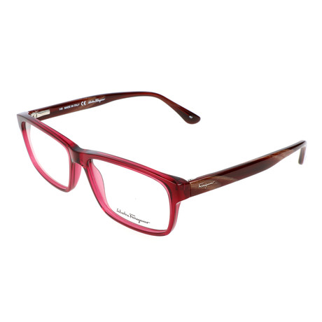 Salvatore Ferragamo // Men's Willie Optical Frames // Crystal Red