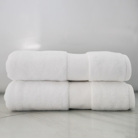 Alfred Sung Lux Collection // Bath Towel // Set of 2 (White)