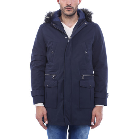 Kit Slimfit Coat // Navy (Euro: 44)