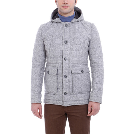 Arthur Slim Fit Wool Coat // Gray (Euro: 44)