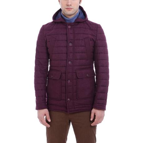 Jay Slim Fit Wool Coat // Purple (Euro: 46)