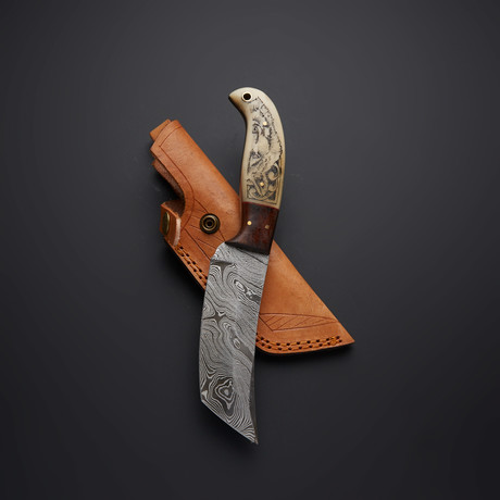 Scrimshaw Hunting Knife // 30