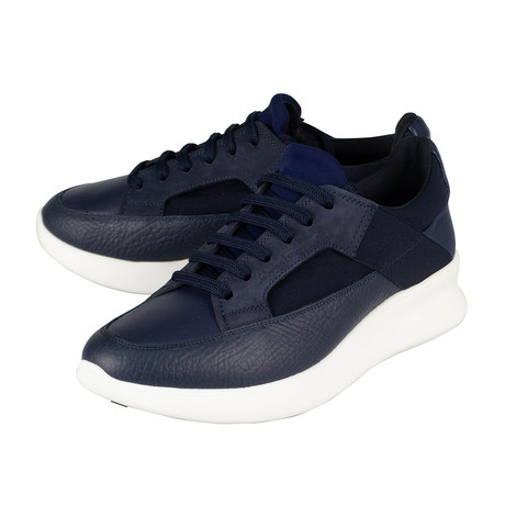 Salvatore Ferragamo // Calfskin Leather Sneakers // Blue (US: 10)