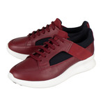 Salvatore Ferragamo // Calfskin Leather Sneakers // Red (US: 6)