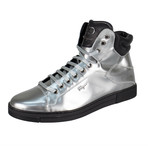 Salvatore Ferragamo // Stephen 2 Metallic Sneakers // Silver (US: 6W)