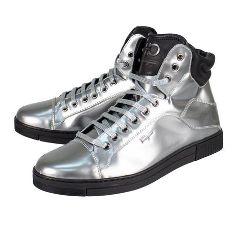 Salvatore Ferragamo // Stephen 2 Metallic Sneakers // Silver (US: 10)