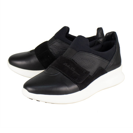 Salvatore Ferragamo // Dion Slip On Sneakers // Black (US: 10)