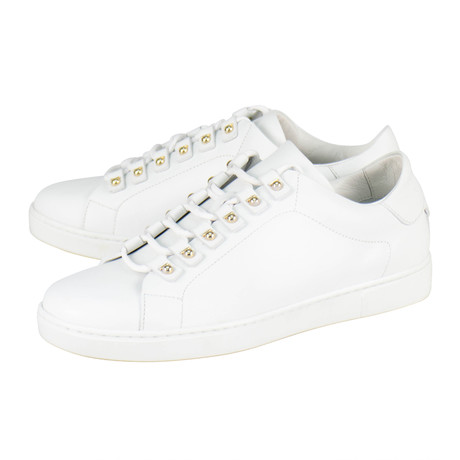 Salvatore Ferragamo // Vulcano Leather Sneakers // White (US: 10)