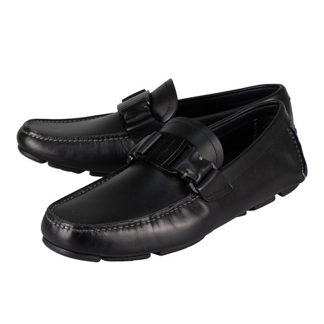 Salvatore Ferragamo // Sardegna 11 Vara Bit Loafers // Black (US: 10)