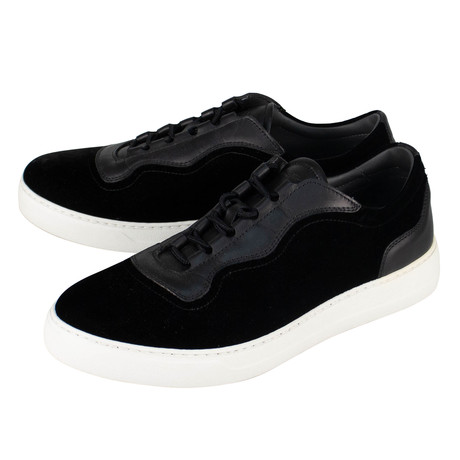 Salvatore Ferragamo // Dowell 2 Leather Sneakers // Black (US: 7.5W)