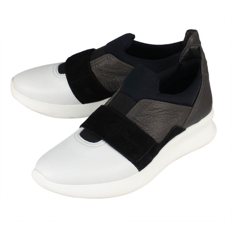 Salvatore Ferragamo // Dion Slip On Sneakers // White (US: 10)