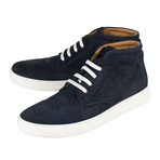 Salvatore Ferragamo // Gorizia Suede Laced Sneakers // Blue (US: 10)