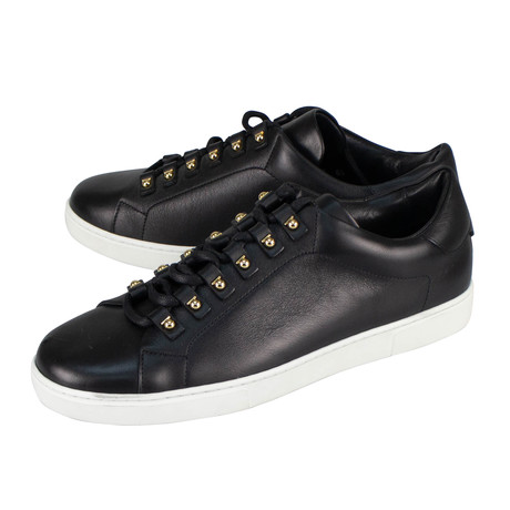 Salvatore Ferragamo // Vulcano Leather Sneakers // Black (US: 10)