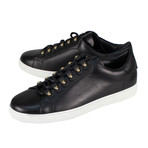 Salvatore Ferragamo // Vulcano Leather Sneakers // Black (US: 6)