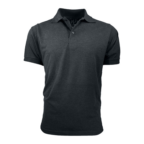 Pique Polo // Charcoal (S)