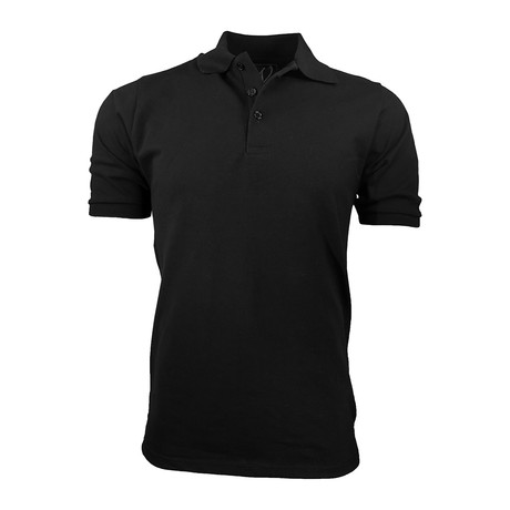 Pique Polo // Black (S)