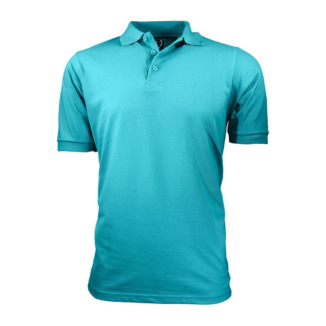 Pique Polo // Aqua (S)