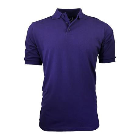Pique Polo // Purple (S)
