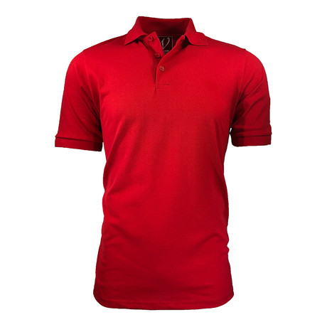 Pique Polo // Red (S)