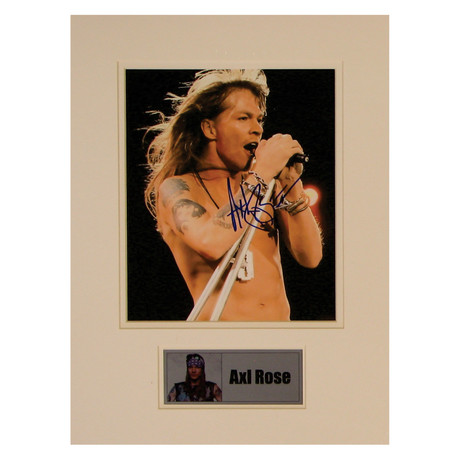 Axl Rose // Guns 'N' Roses // // Signed Photo