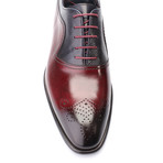 Pete Cap Toe Derby // Bordeaux + Dark Blue (Euro: 41)