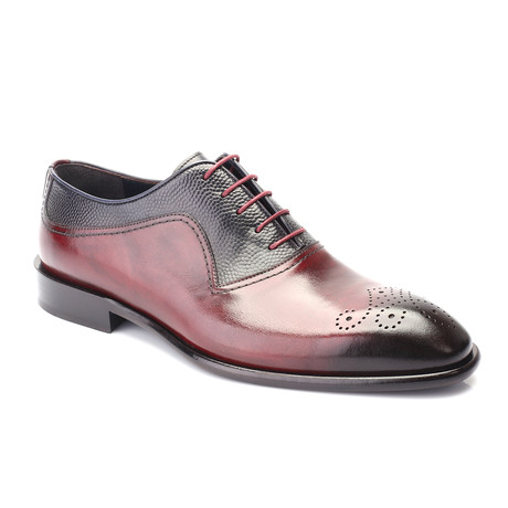 Pete Cap Toe Derby // Bordeaux + Dark Blue (Euro: 40)