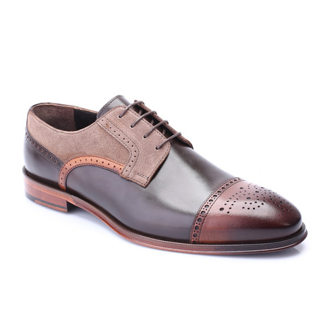 Pace Cap Toe Derby // Tobacco + Brown (Euro: 40)
