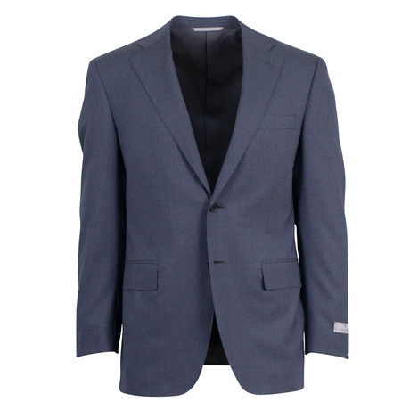 Striped Wool 2 Button Suit V2 // Gray (US: 46S)
