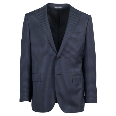 Canali // Striped Wool Classic Fit Suit // Gray (US: 48R)