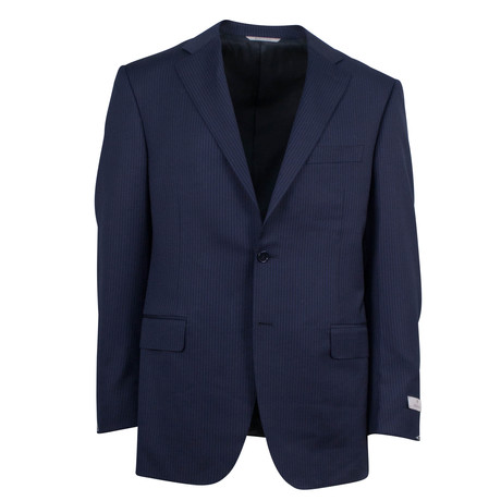 Striped Wool 2 Button Suit V2 // Blue (Euro: 60L)