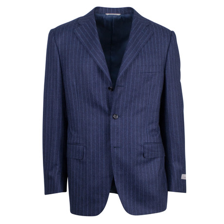 Canali // Striped Wool Classic Fit Suit // Blue (US: 46S)