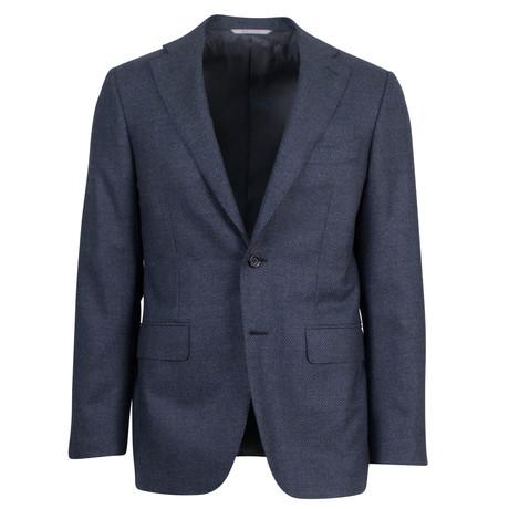 Canali // Birdseye Wool Slim Fit Suit // Charcoal Gray (US: 46S)