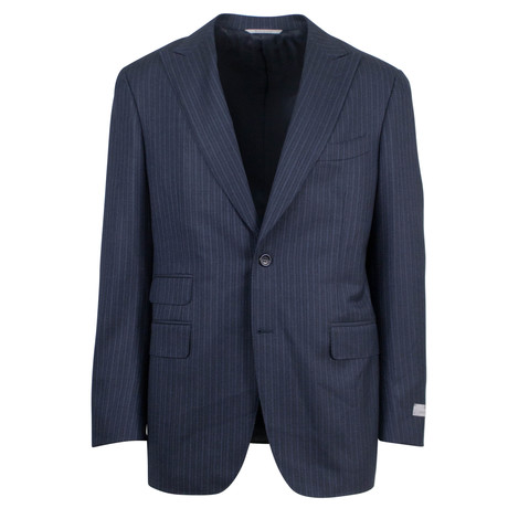 Canali // Striped Wool Slim Fit Suit // Gray (US: 46S)