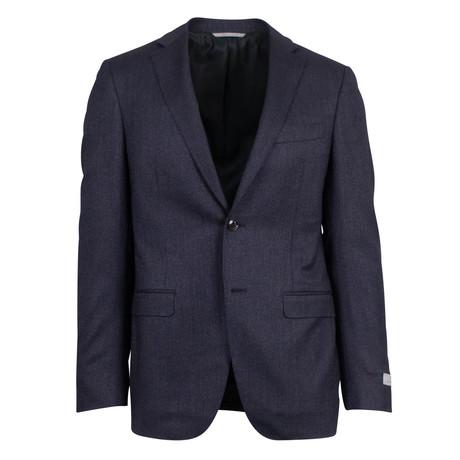 Canali // Striped Cashmere Blend Slim Fit Suit // Gray (US: 46S)
