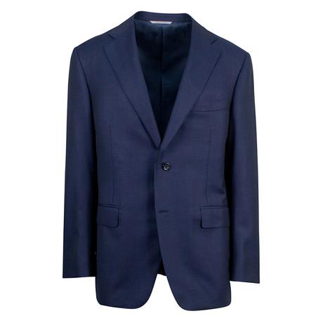 Canali // Water Resistant Wool Slim Fit Suit // Blue (US: 46S)