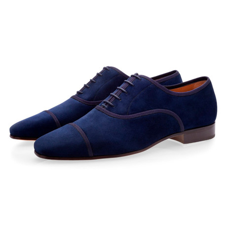 Polin Suede Lace Ups // Navy (Euro: 39)