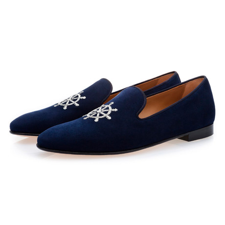 Timon Suede Slippers // Navy (Euro: 39)