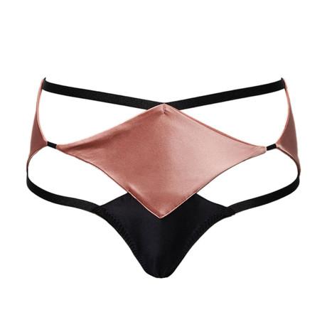 Diamond Waist Knicker // Pink + Black (S)