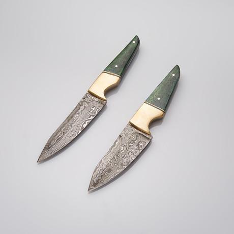 Bone + Brass Steak Knife Set // Set Of 2