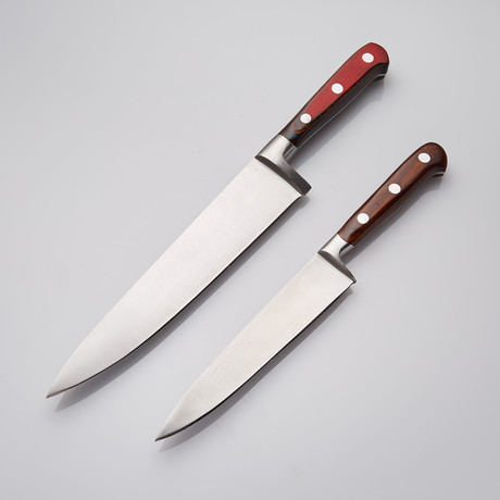 Rosewood + 440c Steel Chef's Knives // Set Of 2