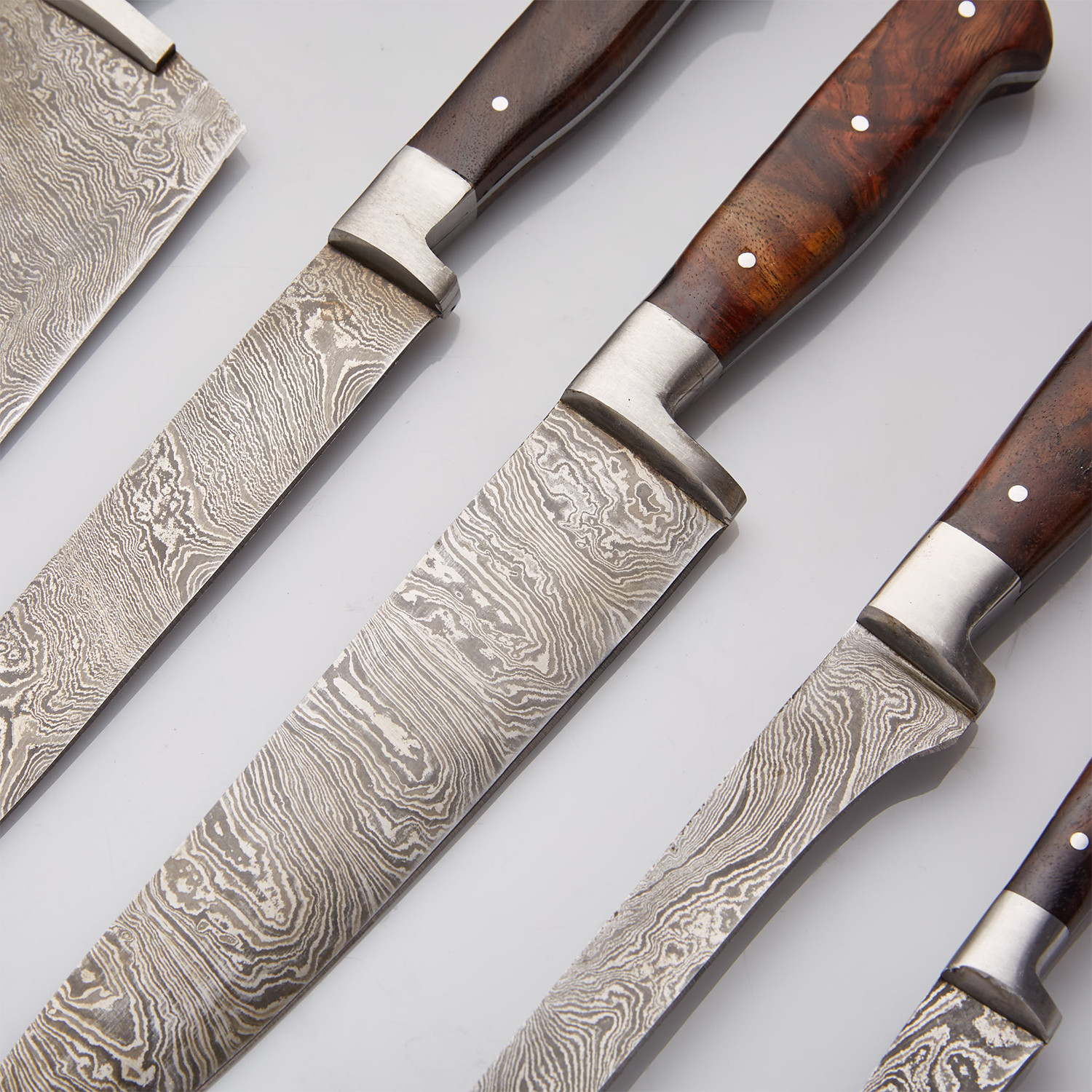 Rosewood Stainless Steel Chef S Knives Set Of 5