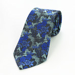 Silk Neck Tie // Blue Floral
