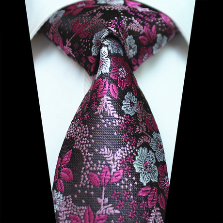 Silk Neck Tie // Purple + Pink Floral