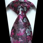 Silk Neck Tie // Purple + Pink Floral