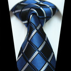 Silk Neck Tie // Blue Checkered