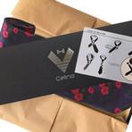 Silk Neck Tie // Black + Multi Color Floral